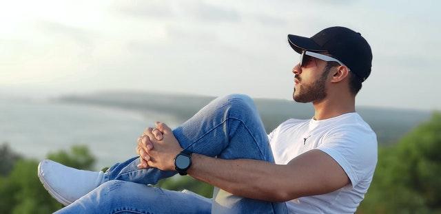 young man relaxing